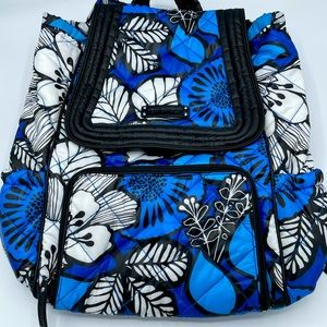 Vera Bradley Blue Bayou Puffy Backpack Spg 2014
